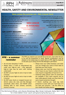 RPH Surfacing Health & Safety Newsletter June 2016