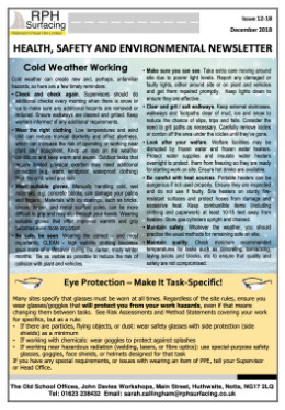 RPH Surfacing Health & Safety Newsletter October 2017